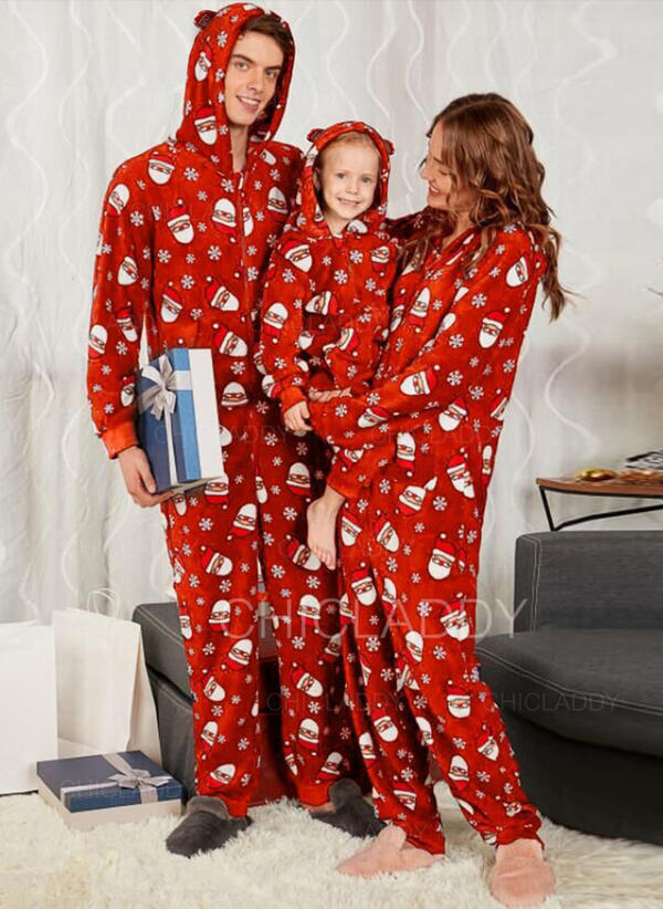 Papai Noel Impressão Família Combinando Natal Pijama