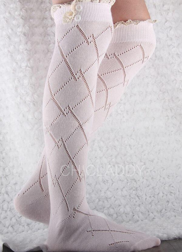 Colore solido/Cucitura Caldo/Confortevole/Da donna/Calza altezza ginocchio Calzini/calze autoreggenti