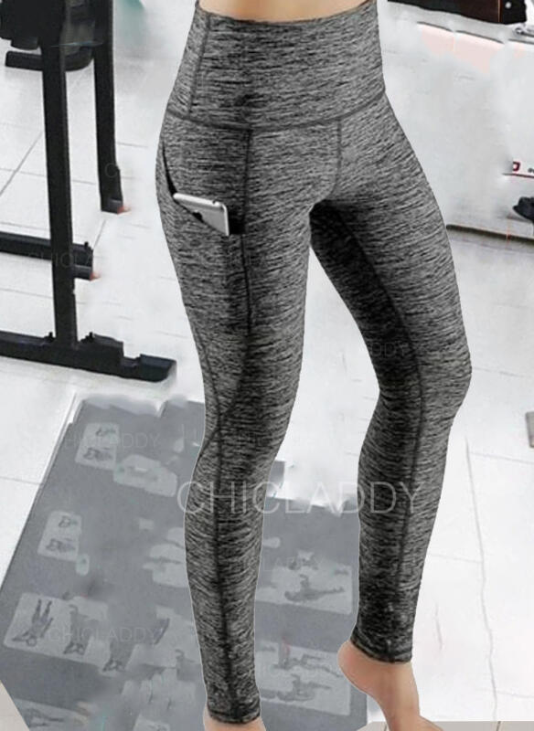 Solido Patchwork Sexy Sportivo Yoga Ghette
