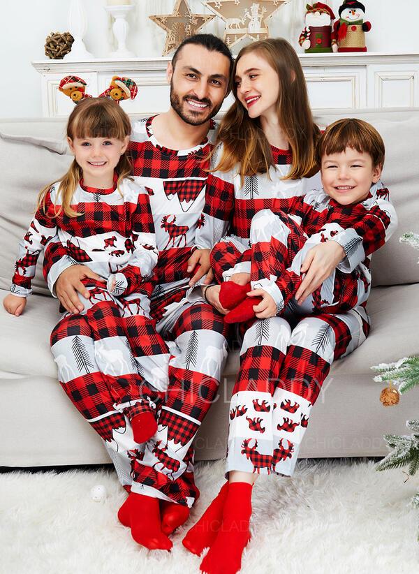 Soby Kostkovaný Tisk Rodinné odpovídající Vánoční pyžama