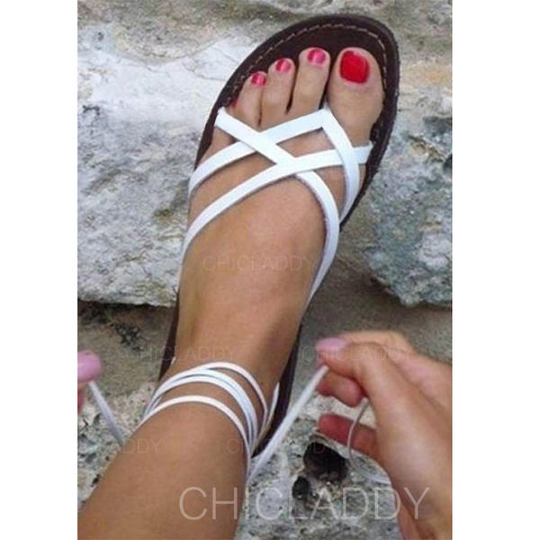 PU Fară Toc Sandale Balerini Puţin decupat în faţă cu Altele pantofi