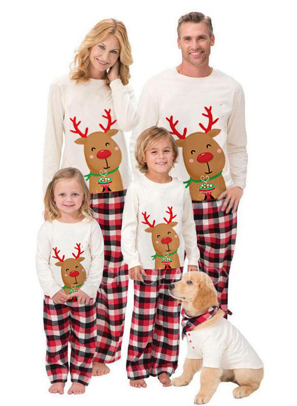 Soby Kostkovaný Rodinné odpovídající Vánoční pyžama