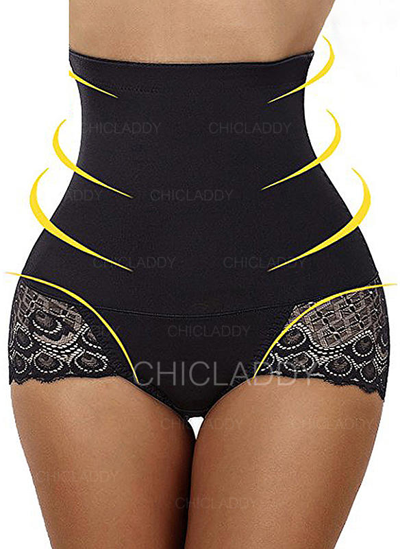 Polyester Bomull Spets Shapewear