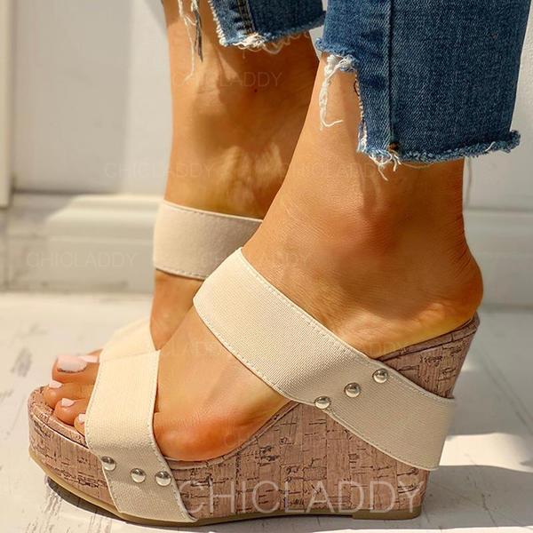 PU Γωνία κλίσης Σανδάλια Ανοιχτά σανδάλια toe Παντούφλες Με Στερεώ παπούτσια
