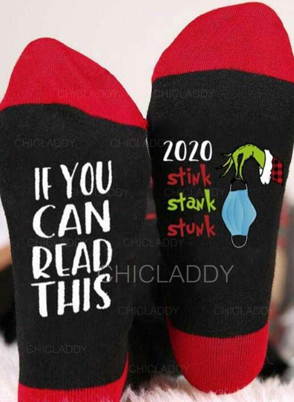 Dopis/Tisk Prodyšný/Vánoce/Posádkové ponožky/2020/Unisex Ponožky