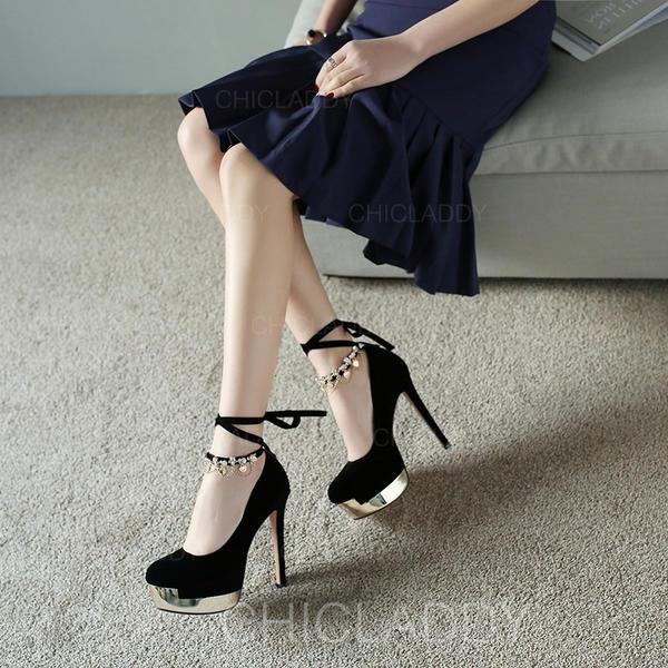 Pentru Femei Piele de Căprioară Toc Stiletto Încălţăminte cu Toc Înalt Platformă pantofi