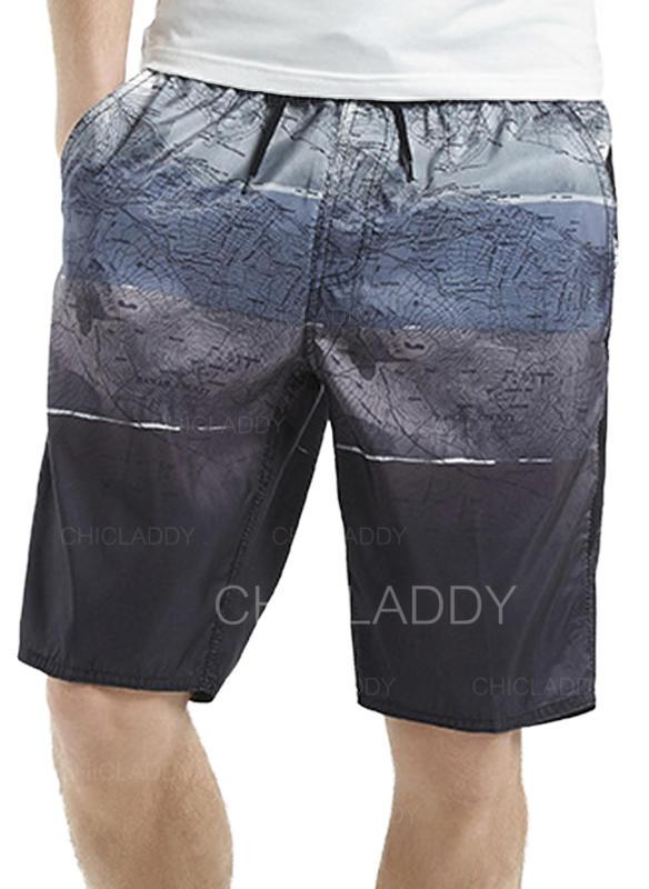 Pour des hommes Splice couleur Shorts de bain Maillot de bain