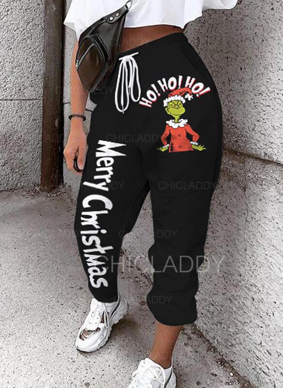 Nášivky Tisk Šňůrka Vánoce Neformální Sportovní Kalhoty