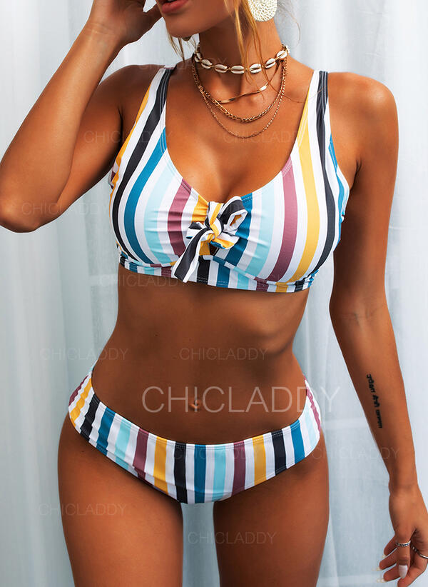 Low Waist Striped Strap Cute Bikinis Swimsuits