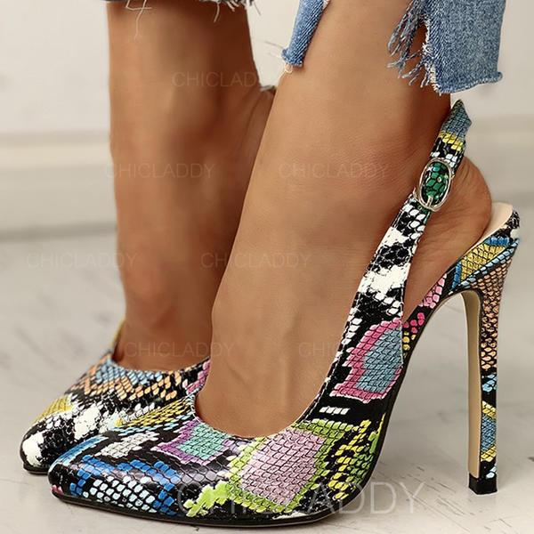 Γυναίκες PU Ψηλό τακούνι Γοβάκια Με Πόρπη παπούτσια