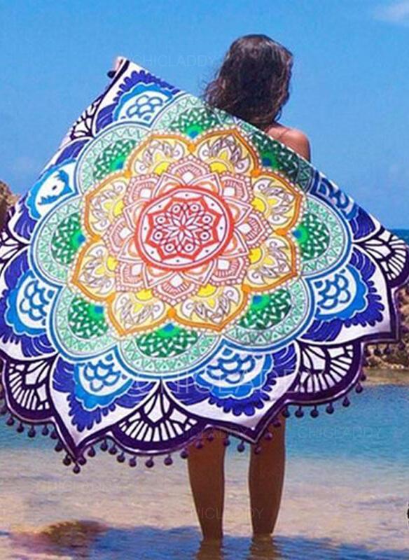 Tassel/Geometrický Potisk kolo/atraktivní/Boho plážová osuška
