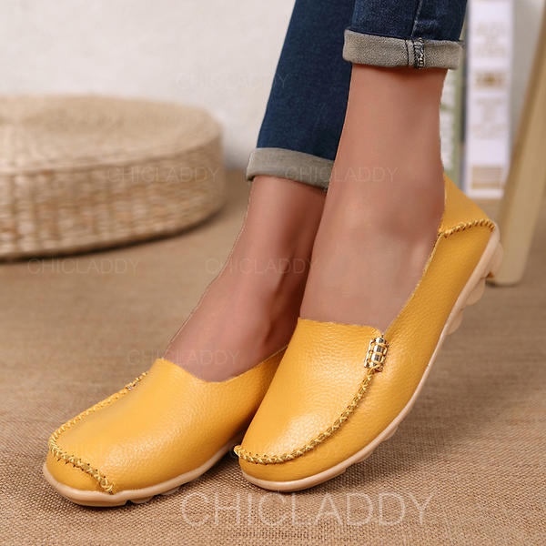 Women's Leatherette Flat Heel Flats With Others shoes