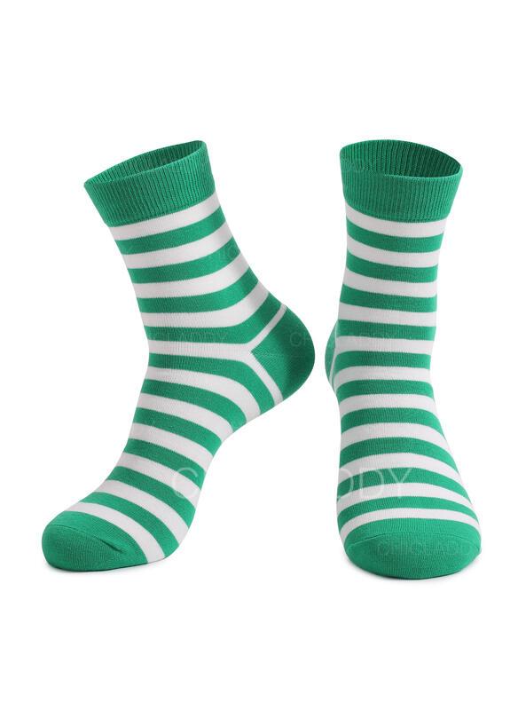Pruhované Posádkové ponožky/Unisex/Den svatého Patrika Ponožky