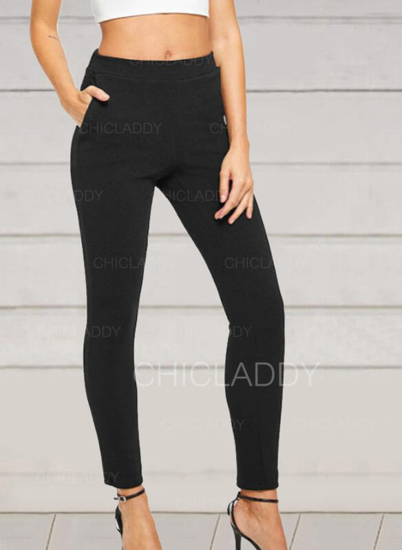 Solido arricciato Sexy Scheletrico Pantaloni
