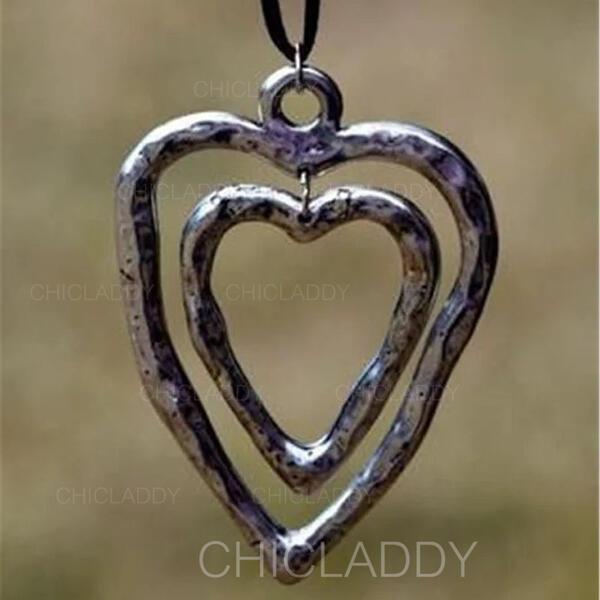 Klasický Srdeční Valentýn Slitina Opletené lano Dámské Náhrdelníky