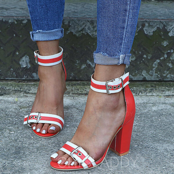 Γυναίκες Υφασμα Χοντρό φτέρνα Σανδάλια Με Πόρπη παπούτσια
