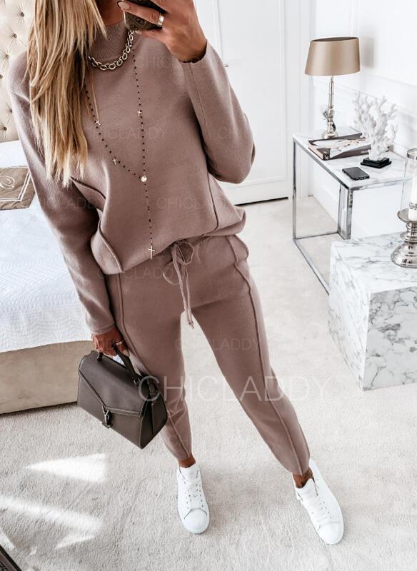 Pevný Neformální handsstring Dvoudílné outfity