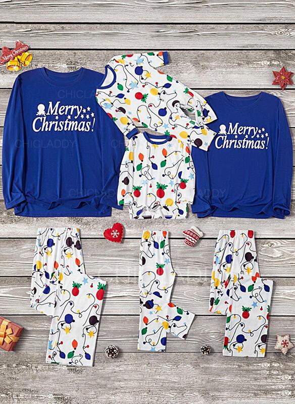 Dopis Tisk Rodinné odpovídající Vánoční pyžama
