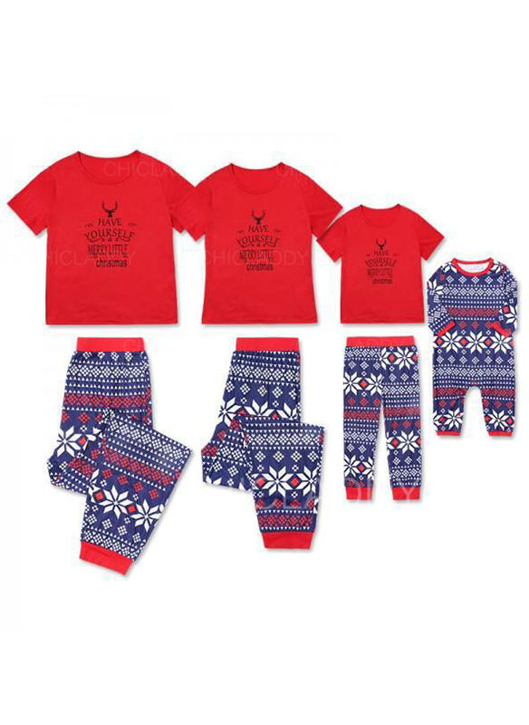 Literă De Familie Pijamale De Crăciun