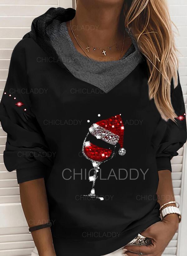 flitry Dlouhé rukávy Vánoční mikina