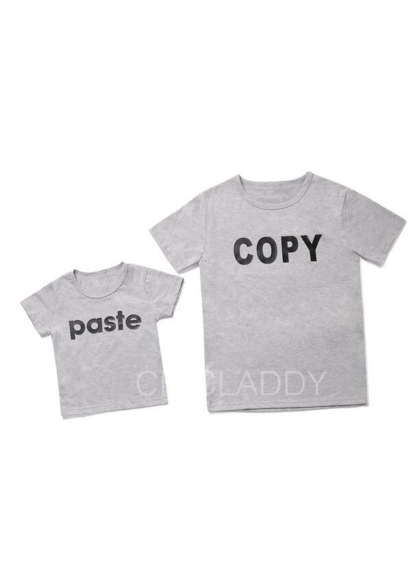 Papai e eu Carta Combinando Camisetas