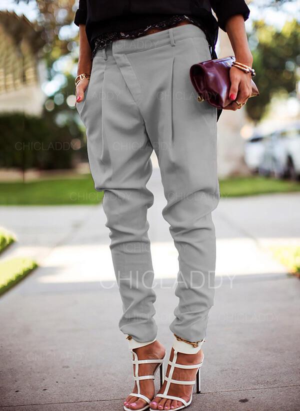 Sólido Casual Largo Sólido Pantalones