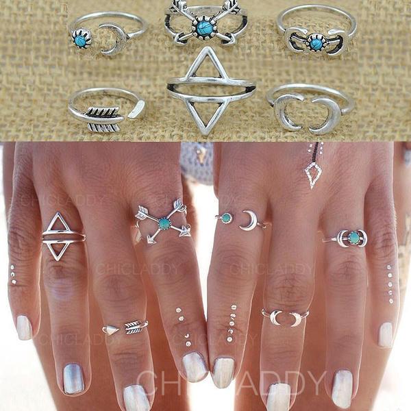 Nice Liga Senhoras Anéis (Conjunto de 6)