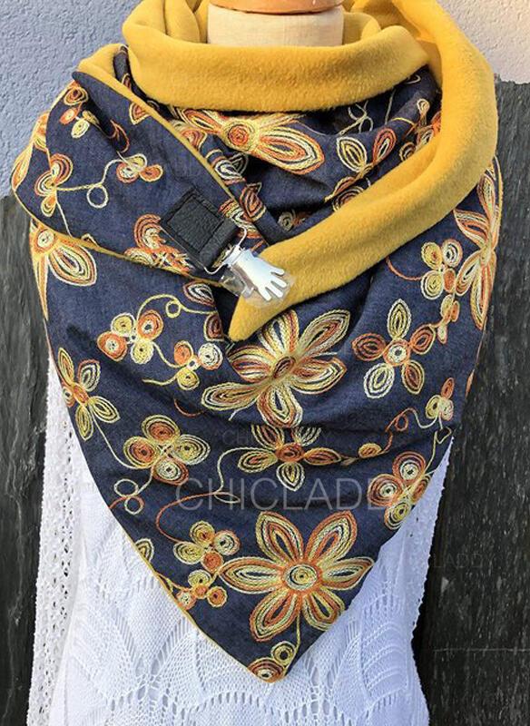 Retro / Vintage/Tisk móda/Komfortní/Barevný Šála