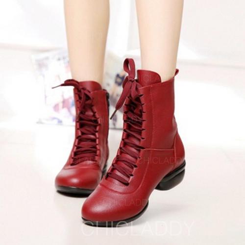 Mulheres dança botas Botas Couro verdadeiro Moderno