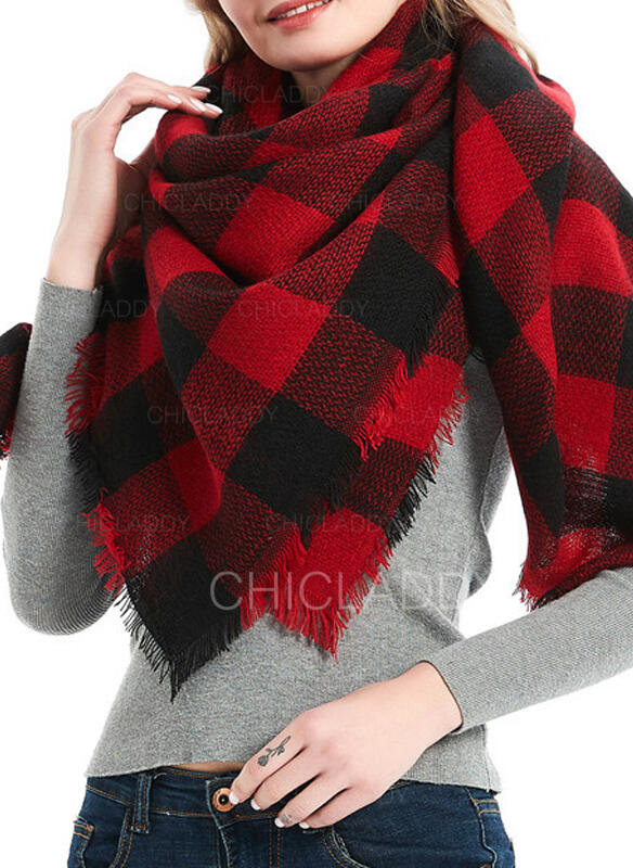 Kostkovaný atraktivní/móda/Komfortní/Vánoce Šála