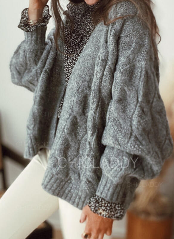 Solido Cavo Knit Casual Cardigan
