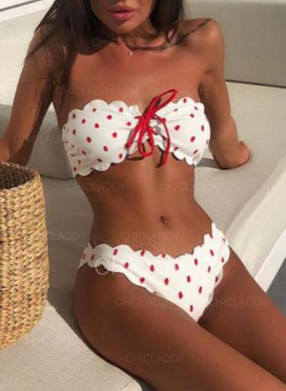 Pont Κορδόνι Vállat szabadon hagyó Χαριτωμένος Bikinik Μαγιό