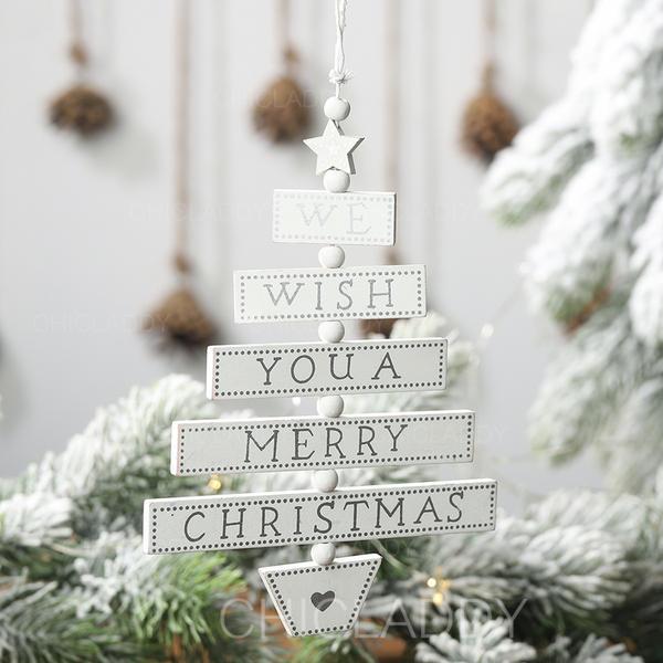 Navidad Feliz Navidad Colgando Decoración navideña De madera Adornos colgantes de árboles