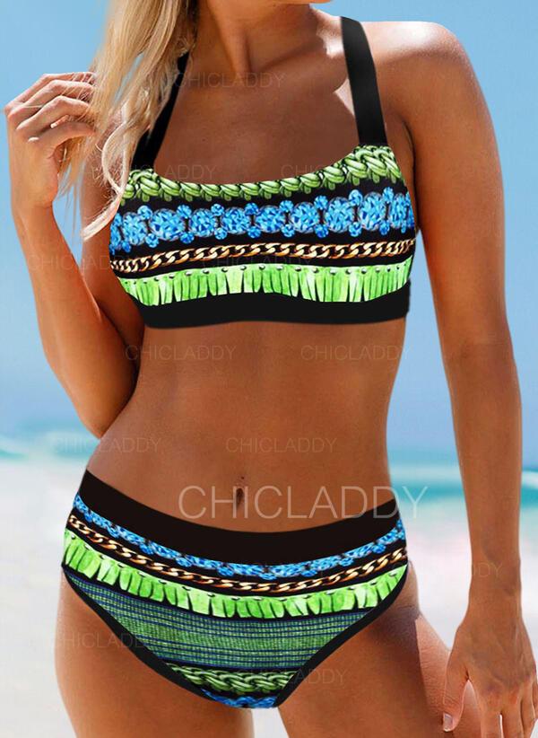Imprimeu Renkli klişe Curea Elegant Boem Bikini Mayolar
