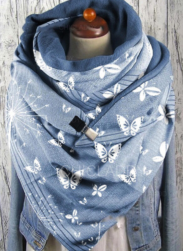 Retro / Vintage/Zvířecí móda/Butterfly Design Šála