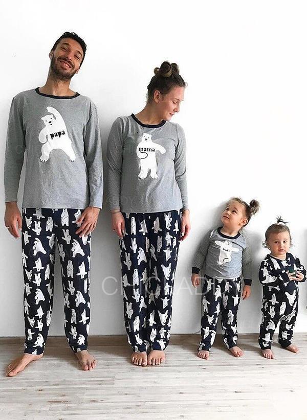 Bear Print Family Matching Pajamas