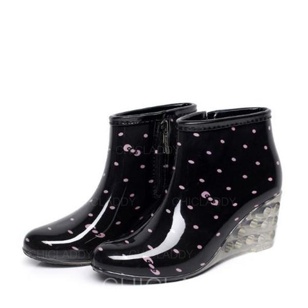 Pentru Femei PVC Platforme Înalte Platforme Cizme Cizme de Ploaie pantofi