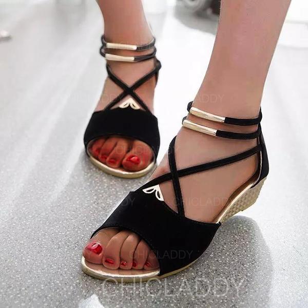 Pentru Femei PU Platforme Înalte Sandale Platforme Puţin decupat în faţă cu Fermoar pantofi