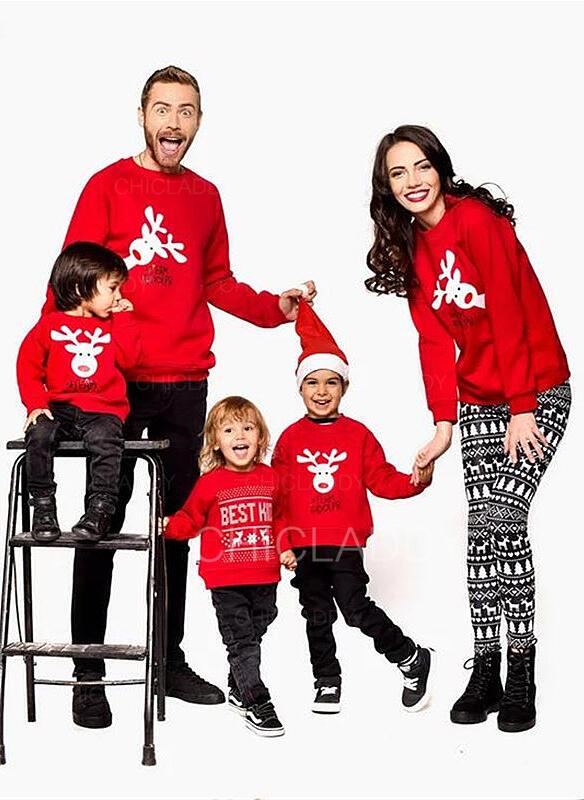 Renne Tenue Familiale Assortie Sweatshirt Chandails