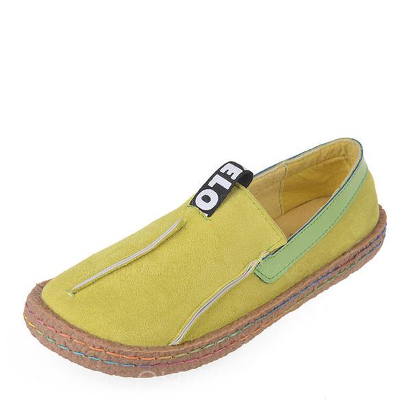 Pentru Femei Piele de Căprioară călcâi plat Balerini Închis la vârf cu Crăpat la încheietură pantofi