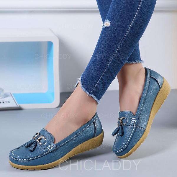 De mujer PU Planos con Bowknot Borla zapatos