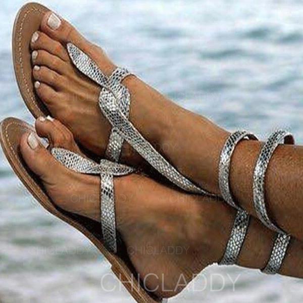 Mulheres PU Sem salto Sandálias Sem salto Peep toe com Outros sapatos