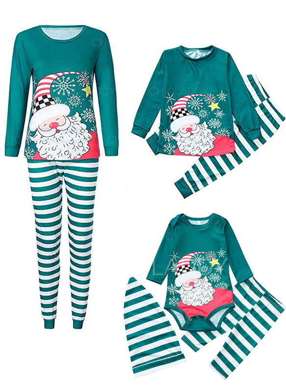 Santa Striped Family Matching Christmas Pajamas