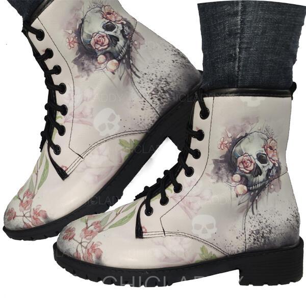 Dámské PU Nízký podpatek Boty S Výšivka obuv