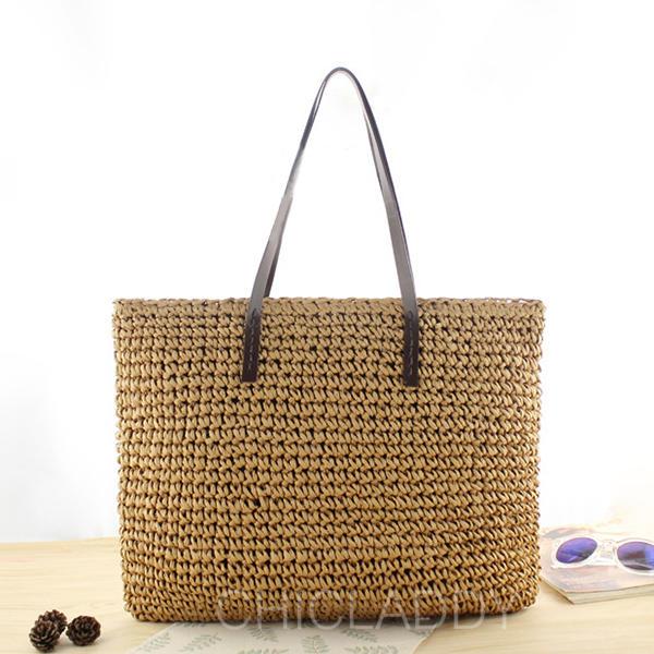 Unique/Împletit Straw Tote Bags/Geantă pe Umăr