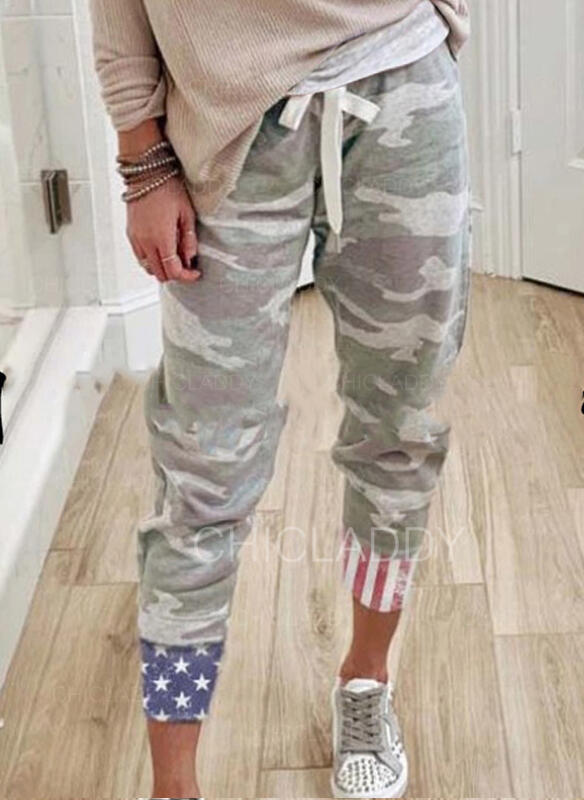 Maskovat Plést Oříznuté Neformální Sportovní handsstring Kalhoty