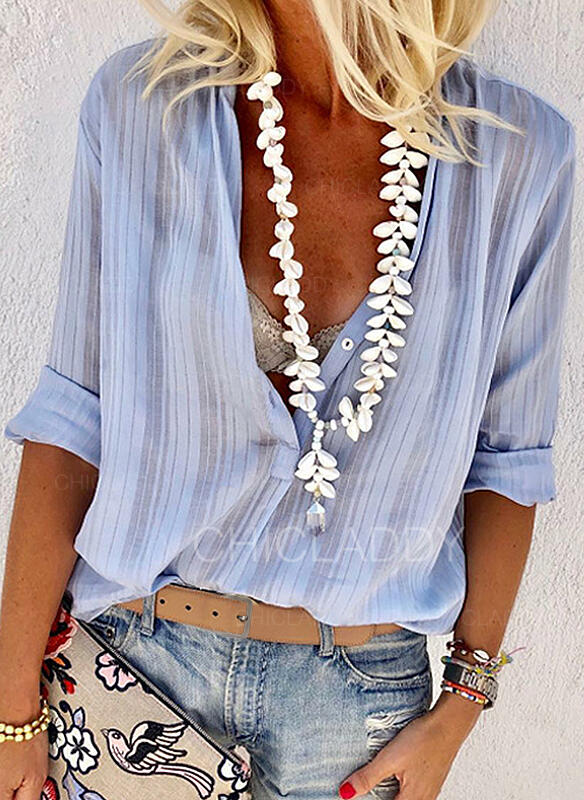 Solid Lapel Long Sleeves Button Up Casual Sexy Blouses