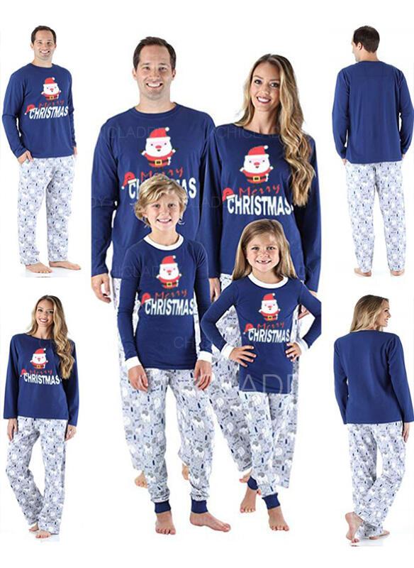 Moș Crăciun Literă Desen Animat De Familie Pijamale De Crăciun