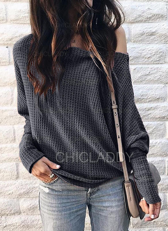 Solid Fickor Casual Blusar