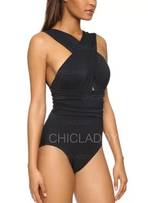 Tinta unita A bikini Elegante Costumi interi Costumi Da Bagno